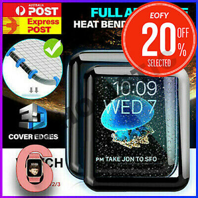 Tempered Glass Screen Protector Full Edge For iWatch Apple Watch Series 5 4 3 2