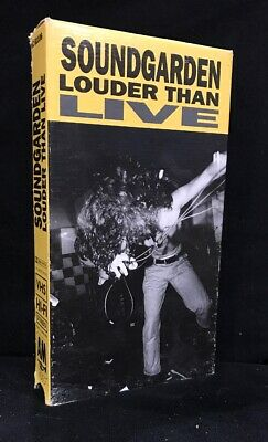 Soundgarden Louder Than Live 1990 VHS Tape A&M Video VC 61106