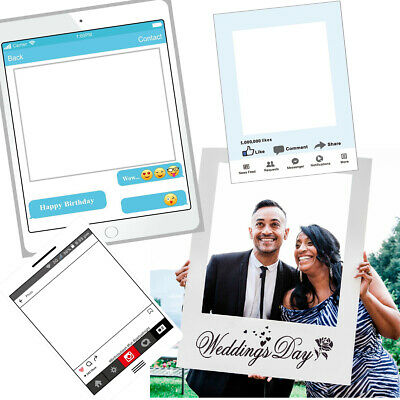 Instagram Selfie Frame Photo Booth Props Happy Wedding Birthday Fun Party Decor