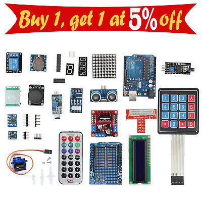 Professional Full Edition UNO Beginners R3 Kit for Arduino LCD Compass Gyro AU