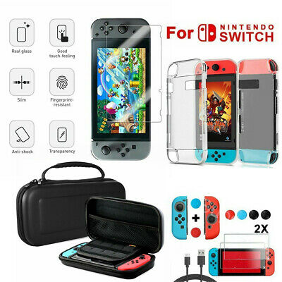 UK Case Bag+Shell Cover+Charging Cable+Protector Accessories for Nintendo Switch