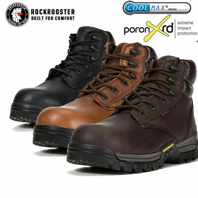 ROCKROOSTER Men's Work Boots Composite Toe Anti Puncture Resistant Safety Shoes