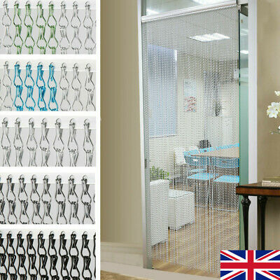 Sliver Aluminium Chain Curtain Metal Door Screen Fly Insect Blinds Pest Control