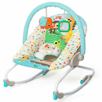 Bright Starts Baby Rocker Sunshine Seaside Portable Infant Soothing Chair
