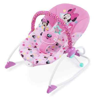 Disney Baby Minnie Mouse Stars & Smiles Infant to Toddler Rocker Baby Chair