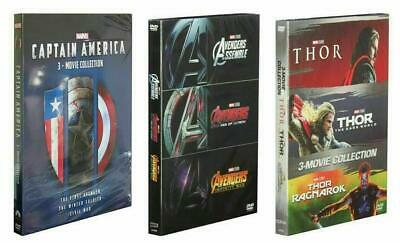 Marvel's The Avengers 1-3, Captain America 1-3, Thor 1-3 1 2 3 Collection