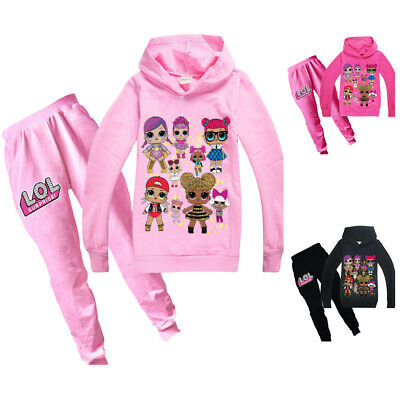LOL Surprise Doll Girl Hoodie Sweatshirt Tops Girl Pullover Casual Clothes 2019