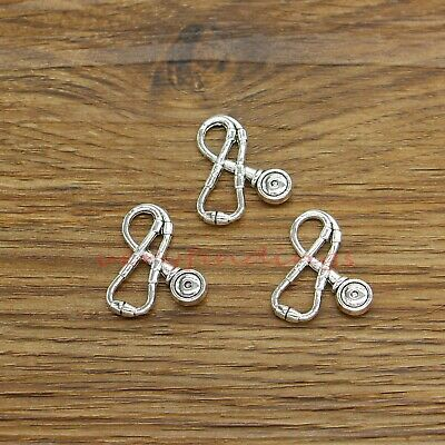 5 Or 10PCs Stethoscope 34mm Antiqued Silver Plated Medical Charms C2522-2