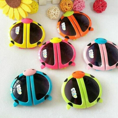 Novelty Foldable Cute ladybug Sunglasses Goggles For Baby Kids Boys Girls M3P4