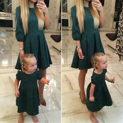Dress Evening Daughter Fashion Summer Casual Kids Girls Mother Clothes Family