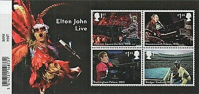 GB Stamps 2019 'Music Giants - Elton John' M/S (with barcode) - U/M
