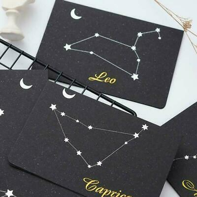 12 Pieces Constellation Greeting Cards Birthday Cards Envelope For Y8C8