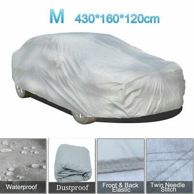 Universal Full Car Cover Waterproof UV Protection Breathable Outdoor Medium R9