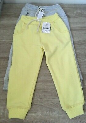 Next Girls 2 Pack Of Lemon & Grey Trousers Bnwt 18-24 Months Gift Present Xmas