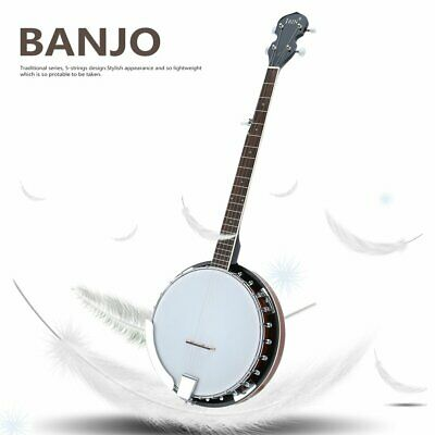 Western 5 String Banjo Traditional Banjo Guitar Ukulele For Beginners Or ti