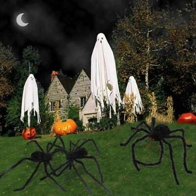 200CM/6.6FT Plush Giant Spider Decoration Halloween Props Haunted Garden Ho O8U0