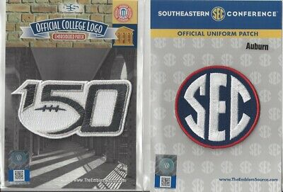 2019 NCAA College Football 150th Anniversary Auburn SEC Conference Patch Combo