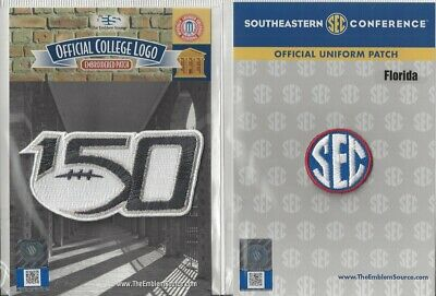 2019 NCAA College Football 150th Anniversary Florida SEC Conference Patch Combo