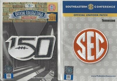 2019 NCAA College Football 150th Anniversary Tennessee SEC Conference Patch Cmbo