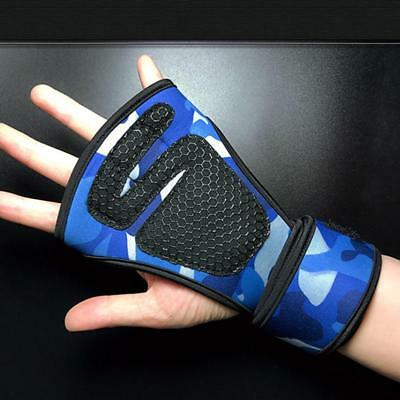 Gym Weight Lifting Padded Gloves Fitness Training Body Building Straps C