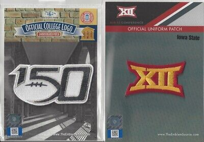 2019 NCAA College Football 150th Anniversary Iowa State Big 12 Conf Patch Combo