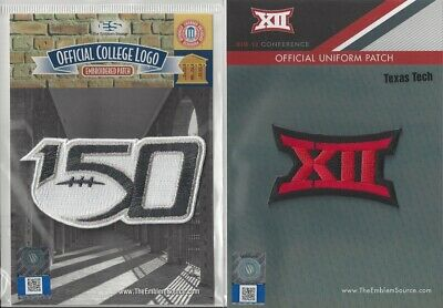 2019 NCAA College Football 150th Anniversary Texas Tech Big 12 Conf Patch Combo