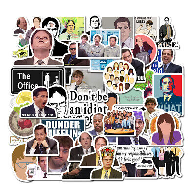 50PCS The Office Skateboard Stickers Vinyl Laptop Luggage Decals Dope Sticker N2