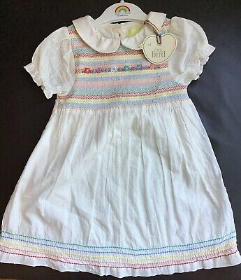 Little Bird By Jools Oliver Age 18-24 Months Smock Girls Summer Dress & Hanger