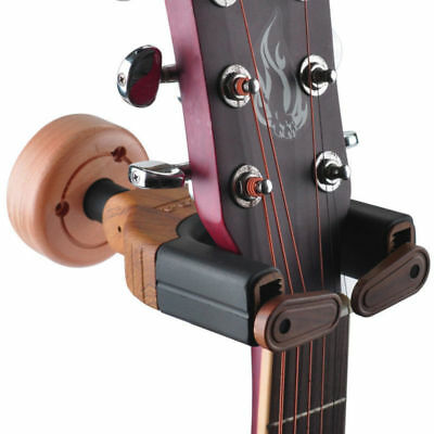 Wooden Base Wall Mount Guitar Hanger Holder Hook Keeper Hanging Brackets Wooden