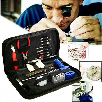 16 Pcs Watch Repair Tool Kit Band Strap Link Remover Back Opener Screwdriver UK