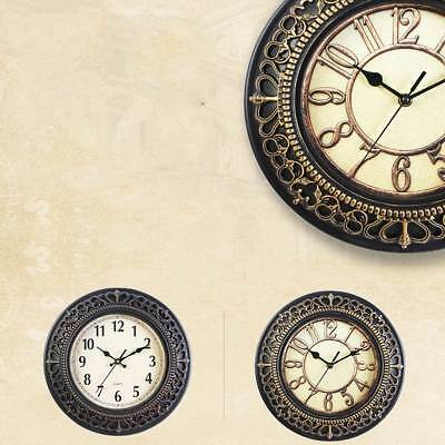 30CM Vintage Wall Clock Shabby Chic Rustic Kitchen Home Antique Style