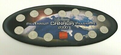 Millennium Canada 2000 25c Uncirculated Coin  13pc Collection Nestle Edition