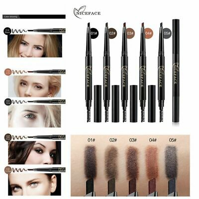 Natural Automatic Rotate Brow Tint Eyebrow Pencil Double Head with Brush