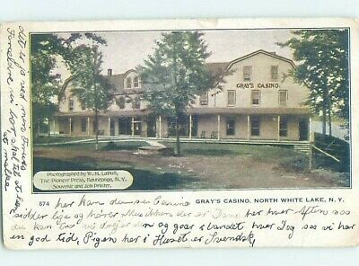 c1910 GRAY'S CASINO North White Lake By Bethel & Woodstock & Liberty NY H1455