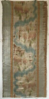 Absolutely Beautiful Rare 18th C. French Silk Ikat Fabric  (2849)