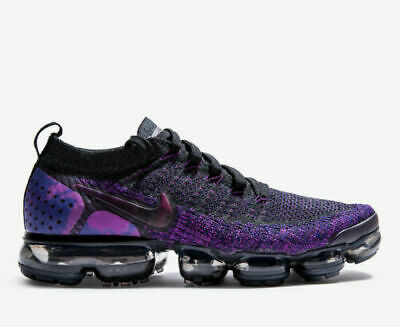 NEW Nike Air Vapormax Flyknit 2 Black Purple 942842-013 Mens shoes FREE SHIPPING