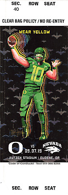 2019 OREGON DUCKS Collectible Football Ticket Stub (Choose Any Game)