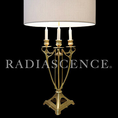 ART NOUVEAU JUGENDSTIL LARGE SOLID BRASS CANDELABRA TABLE LAMP 1890's SUBLIME