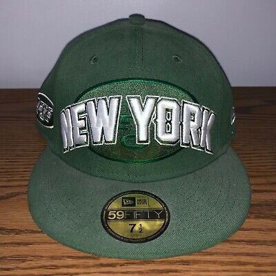 NFL Jets Draft Day 59FIFTY Fitted Cap Flat Brim Baseball Hat