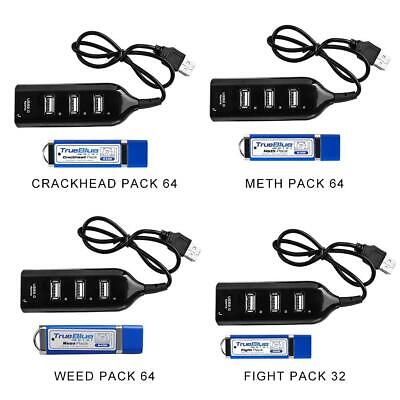 64GB True Blue Mini Fight/Meth/Crackhead/Weed-Pack For PlayStation Game HUB