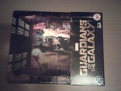 Guardians Of The Galaxy Lenticular Steelbook (blu ray) 2d/3d  NEW SEALED OOP