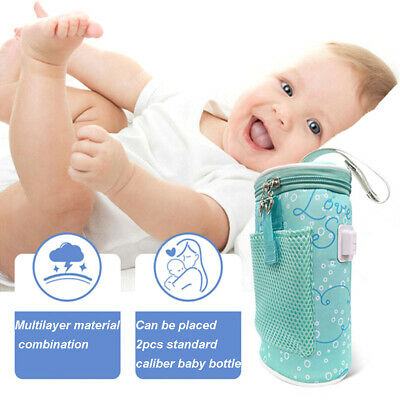 Thermostat Baby Feed Cup TravelB Warmer Bottle Bag Insulated Heater Newborn