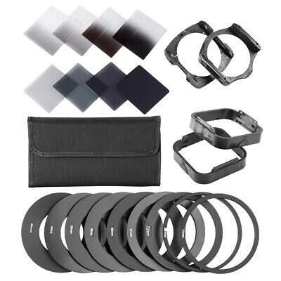 Neewer ND Filter Kit: (8)ND Filters+(9)Adapter Rings+(2) Holder+(2)Lens Hood