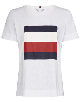 Tommy Hilfiger Dilma Crew Neck Lace Pocket Womens T-shirt Fiesta All Sizes