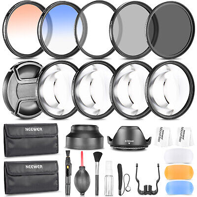 Neewer 58MM Photography Accessory Kit Filter Set UV CPL ND8 Close-up Filter