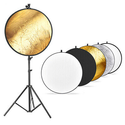 Neewer Photo Studio Lighting Reflector with Stand and Reflector Clamp Holder Kit