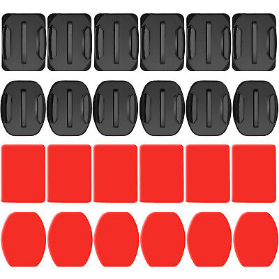 Neewer 24pcs Helmet Adhesive Pads Sticker 12 Curved and 12 Flat Mounts for GoPro