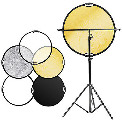 Neewer 43 inches 5-in-1 Collapsible Multi-Disc Lighting Reflector Diffuser