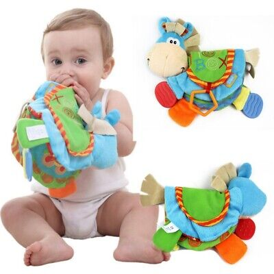 Newborn Baby Happy Study Teether Toys Cloth Book Intelligence Early Education UK