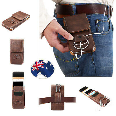 Universal Luxury Leather Flip Belt Wallet Pouch Card Cell Phone Case Cover Bag